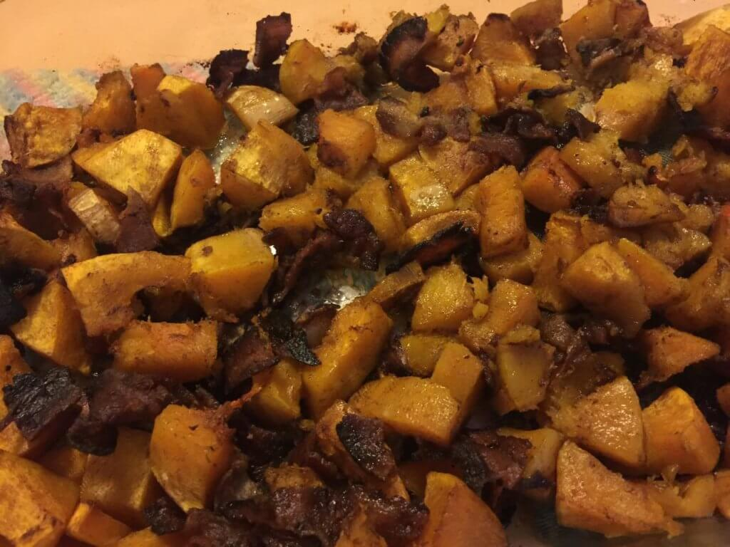 Cinnamon Butternut Squash with Bacon