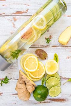 Lemons, limes & ginger root