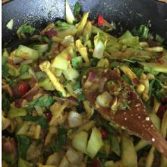Lemongrass Steak Stir-Fry with Bok Choy and Basil