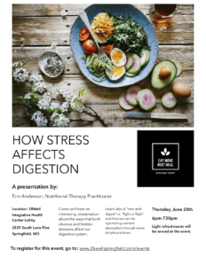Stress and Digestion Flyer
